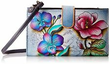 Anuschka, Hand-Painted Leather, Smart Phone Case & Wallet- Floral Fantasy