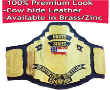 WCW United States heavyweight wrestling championship replica title belt Leather