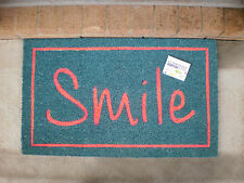 Smile - Natural Coir on PVC Backing Door Mat
