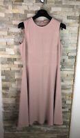 Hobbs Ladies Size UK 10 US 6 Blush Pink Sleeveless Elegant Dress Sheath