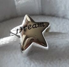 Autentico Chamilia Diamond & 925 Argento Dream Big Star Charm Bead RRP £ 60