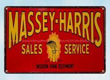 modern home decor Massey Harris Sales Service Farm equipment metal tin sign