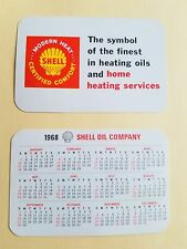 1968 Shell Gas & Oil credit card calendar-Heating Oil For Home Heating Services