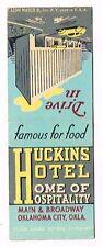 1940s Huckins Hotel Main & Broadway V2 Oklahoma City Matchcover