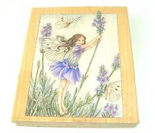 STAMPS HAPPEN Flower Fairies Lavender Fairy rubber stamp 1998 VTG USA