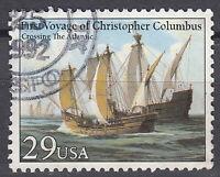 USA Briefmarke gestempelt 29c First Voyage of Columbus Rundstempel / 903