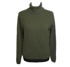 Lord & Taylor Womens 100% Cashmere Green Turtleneck Sweater Size M