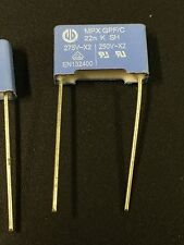 10 pcs of mpx Capacitors 22N K  275V/250V