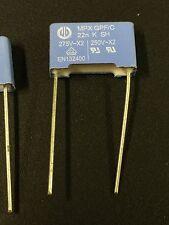 10 pcs of mpx Capacitors 22N K  275V/250V