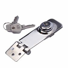 "3"" Stainless Steel Security Lock Hasp Door Gate Padlock Drawer Cabinet With Key"
