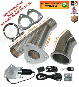 """UNIVERSAL FIT POWERED EXHAUST CUT OFF VALVE KIT 3""""/76 MM ELECTRIC CONTROL SYSTEM"""