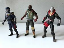 Hasbro G.I. Joe Classified- 3 figure lot. Destro Cobra Commander Roadblock 6 in