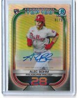 2021 Bowman baseball Scouts top 100 rookie auto Alec Bohm RC 42/50 Philadelphia