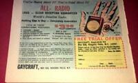 VINTAGE WORLD'S SMALLEST RADIO MINIATURE PROMO 1960'S