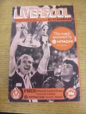 04/11/1981 Liverpool v AZ Alkmaar [European Cup] (Creased, Nicks). Item in very
