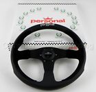 Personal 350 Mm Pole Position Steering Wheel Black Leather Black Suede Leather