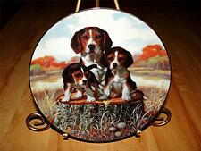"""Beagle Dog Puppy, """"The Lookout"""" A Sporting Generation, Jim Lamb Hamilton Plate"""