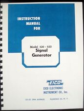 EICO Model 320 322 Signal Generator  Instruction Manual