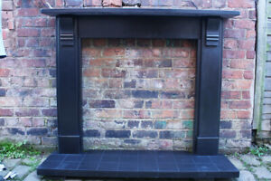 Reclaimed Antique Victorian Slate Fire Surround.