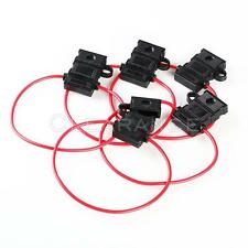 5x 16 GAUGE ATC FUSE HOLDER IN-LINE AWG WIRE COPPER 12V POWER BLADE