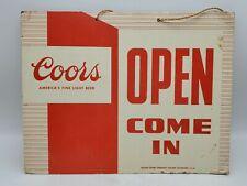 Vintage Rare - Coors America's Fine Light Beer Open/Closed Advertising Door Sign