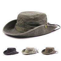 Men Summer Embroidery Visor Bucket Hats Fisherman Hat Outdoor Climbing Mesh Cap