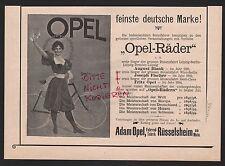 RÜSSELSHEIM/M., Anzeige 1898, Adam Opel AG Fahrrad-Fabrik