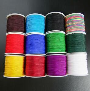 100M SUPERIOR QUALITY Nylon Cord / Chinese Knot/Shamballa Macrame Beading 0.8mm