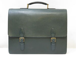 Authentic LOUIS VUITTON Taiga Tashkent Epicea M30084 Green Briefcase 18626131