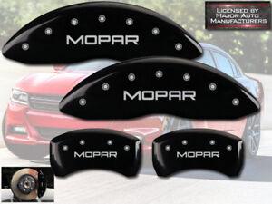 "2001-2006 Dodge Stratus Front + Rear Black MGP Brake Disc Caliper Covers ""Mopar"""