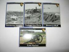 Lot of 4 NPS National Park Service Trading Cards Richmond Battlefield Park