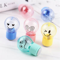 1PC Mini Light Bulb Can Pencil Sharpener Office Student School Supply Kids Gift