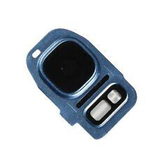 Samsung Galaxy S7 Edge Camera Glass Lens Holder Frame Flash Cover Blue G935