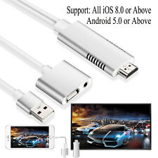 3 in 1 USB to HDTV HDMI Cable AV Adapter for Android Sumsung S8/iPhone X 8 Plus