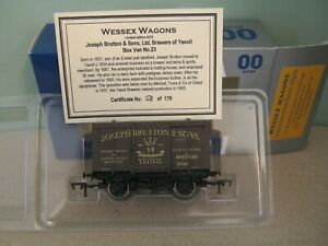 Dapol Wessex Wagons Limited Edition +Cert Vent Van Joseph Brutton & Sons Brewery