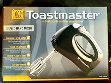 Toastmaster 5 Speed Hand Mixer Black Easy Grip Handle New in Box