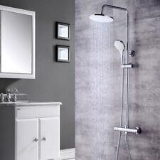 Bad Dusch Montageset Edelstahl Thermostat Duscharmatur Handbrause Duschsystem DE