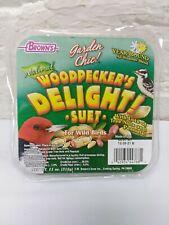 Brown's Garden Chic Suet Woodpecker's Delight Wild Bird Food  Year Round Blend
