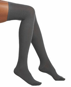 HUE Women's Ribbed Over-The-Knee Socks Graphite One Size