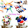 10Pcs/lot Colorful Soft False Mouse Cat Toys Feather Funny Playing Pets Toy Gift
