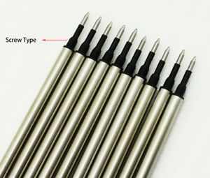 10 PCS Jinhao Rollerball Pen Ink Refills , Screw Type 0.7 mm - Black Color