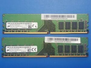 Micron 2x 8GB 1RX8 PC4-2666V DDR4 RAM MTA8ATF1G64AZ-2G6E1 UDIMM 16GB TOTAL