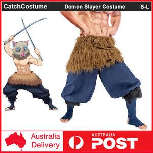Anime Demon Slayer Kimetsu no Yaiba Hashibira Inosuke Cosplay Costume Outfit