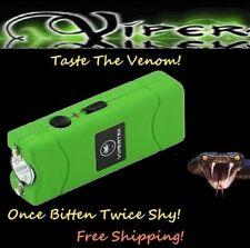 Viper Green 2900 Million volt Rechargeable Stun Gun LED light w/ taser Holster