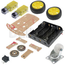 Smart Car Robot plastic Chassis Kit Speed Encoder Battery Box Motor for Arduino