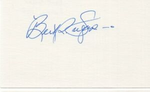 Bert Sugar - Boxing Writer and Historian - Autographed 3x5 Card