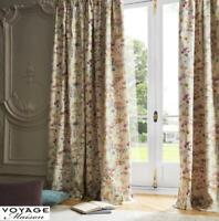 VOYAGE MAISON Ilinizas Poppy Pencil Pleat Header Ready Made Lined Curtains