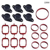 Swirl Flap Blanks Intake Replacement Bungs Kit Intake Manifold Gaskets fits BMW