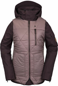 2021 NWT WOMENS VOLCOM VAULT 4-IN-1 JACKET $300 S Black Red 2 layer VS10 fit