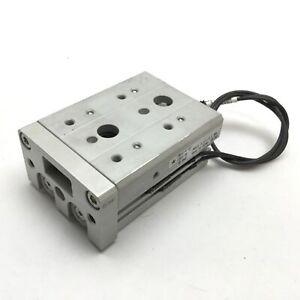 SMC MXS16-10 Pneumatic Slide Table, Bore 16mm, Stroke 10mm, M5x0.8, W/ 2 Sensors